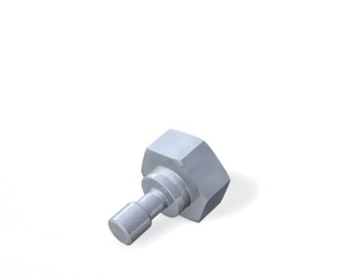 Screw for stylus disk, M5, screw product photo Back View L