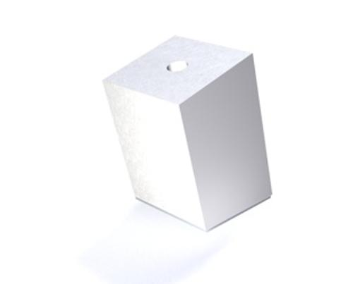 Styrofoam block, 15° B30 product photo Front View L